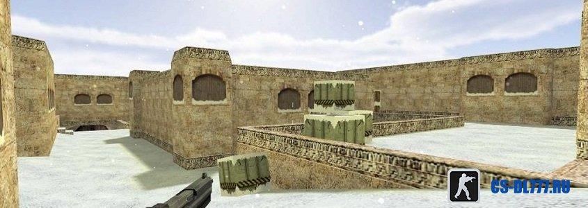 Карта de_dust2_2x2_snow